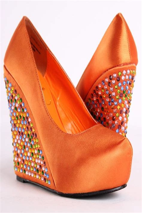 Orange Wedges By C Boutique 56 best orange satin style images on elastic