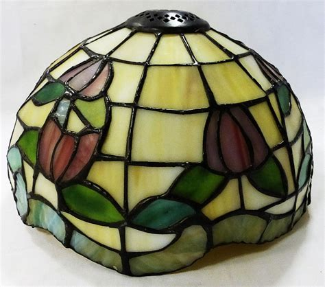 leaded glass l shade tiffany style l shade leaded stained glass heavy