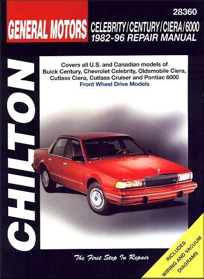 motor repair manual 1996 chevrolet s10 free book repair manuals buick century chevy celebrity ciera etc repair manual 1982 1996