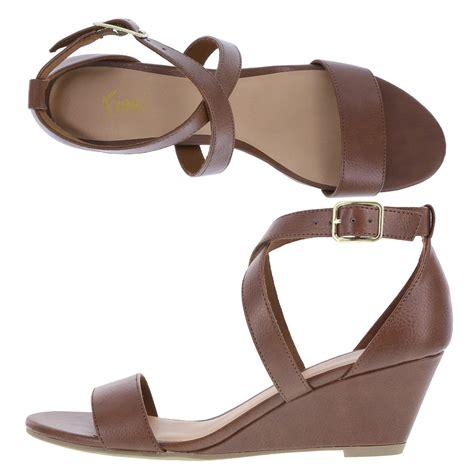 Sandal Midi fioni princess s mid wedge sandal payless