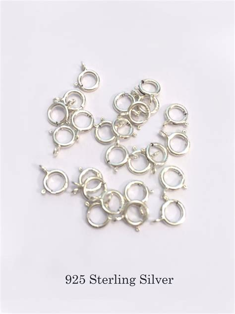 jewelry supplies sterling silver 6mm sterling silver clasps sterling silver open