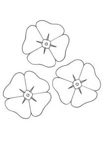 The Poppy Flower Coloring Pages Printable sketch template