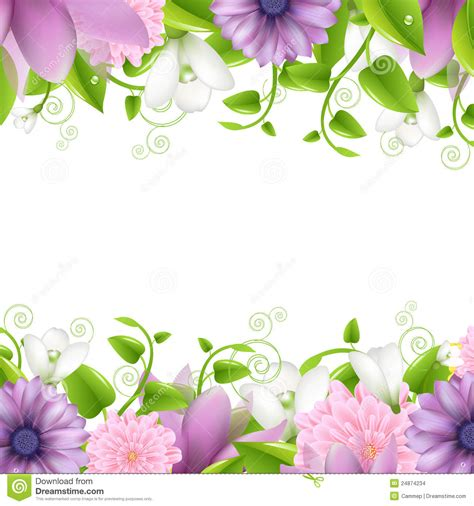 Best Quality Map A4 Bunga Murah borders with flowers stock images image 24874234