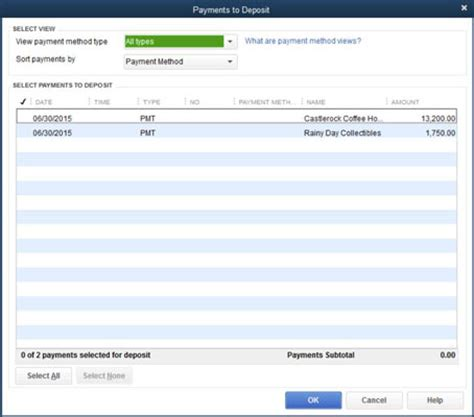 How To See Records How To Record Bank Deposits In Quickbooks 2015 Dummies
