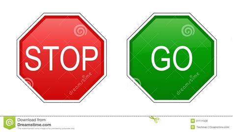 to go free or not to go free should you choose stop and go signs stock vector illustration of caution