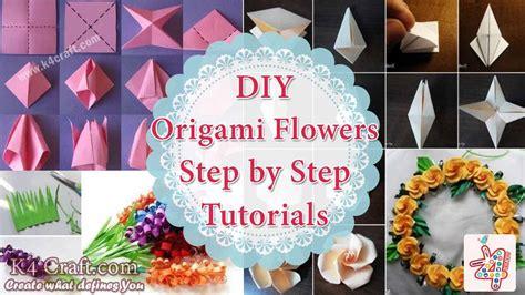 step by step crafts diy origami flowers step by step tutorials k4 craft