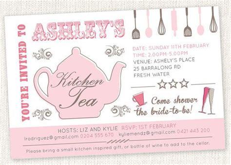 kitchen tea present ideas best 25 kitchen tea invitations ideas on