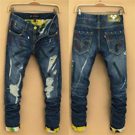 new pattern jeans for man best selling new cotton men s pants straight leg waist