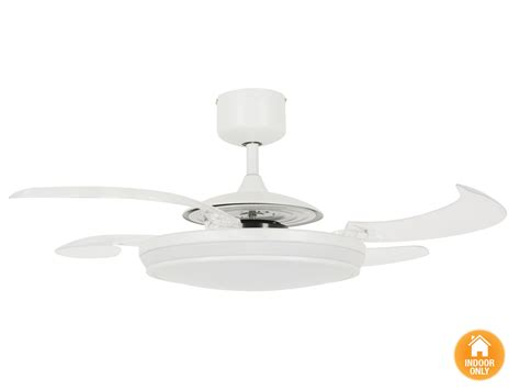 ceiling fan retractable blades fanaway evo1 prevail white ceiling fan with clear