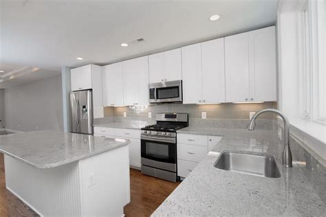 White Tile Backsplash Kitchen Ideas White Cabinets Kitchen Then Backsplash Gray Subway Tile Home Design Best Free Home