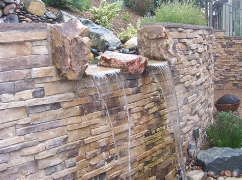 water retaining landscape water features ponds waterfalls tri cities