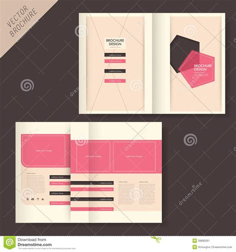grid layout less geometry brochure design with line and grid stock vector