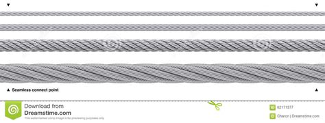 seamless steel cable repeatable wire rope stock photo