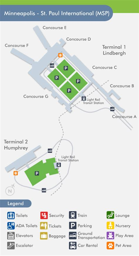 msp map msp concourse map my