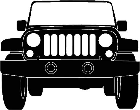 jeep silhouette jeep silhouette illustration jeep pinterest jeeps