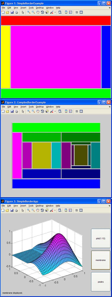 layout manager matlab borderlayout file exchange matlab central