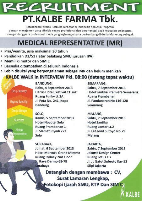 jadwal dan persyaratan ak 1 kartu kuning disnakertrans lowongan medical representative pt kalbe farma tbk