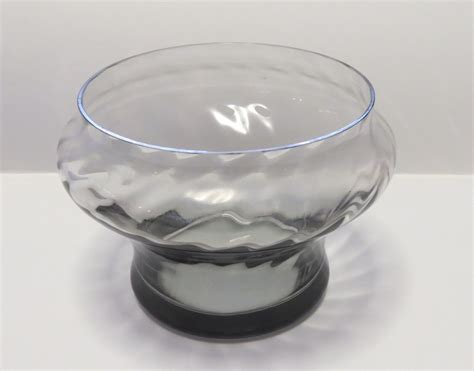 Wedgwood Glass Vase by Wedgwood Smokey Glass Vases Frank Thrower Collectors