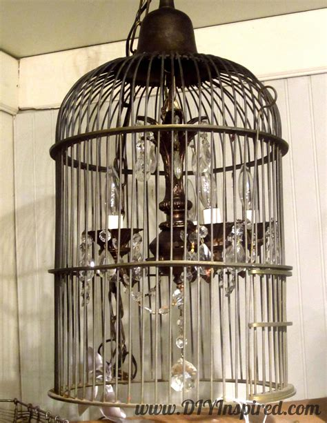 Diy Birdcage Chandelier Repurposed Inspiration From Antique Shopping Diy Inspired