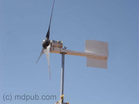 how i built an electricity producing wind turbine