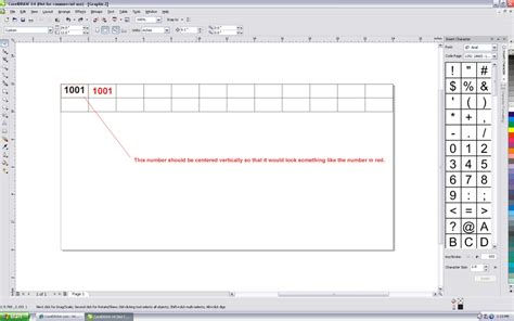 vertical text in coreldraw x4 arranging text within a table coreldraw graphics suite