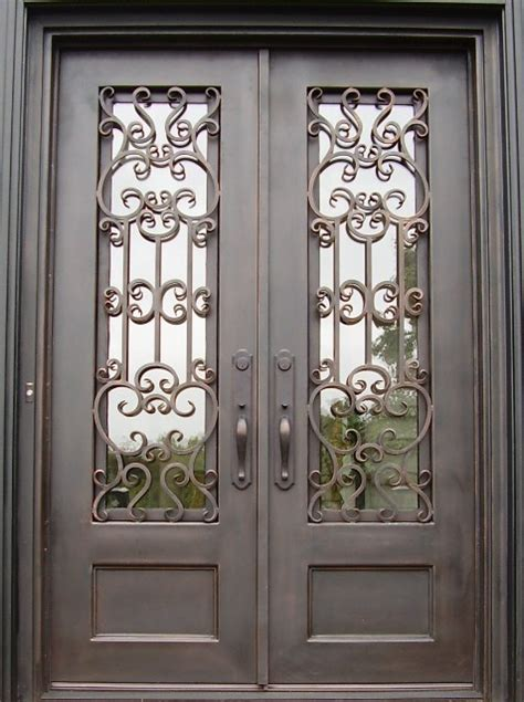 fiberglass entry doors with wrought iron images