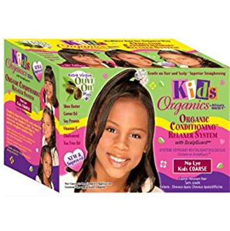 texturizer on 1 year old babies hair amazon com africas best kids org relaxer coarse kit by
