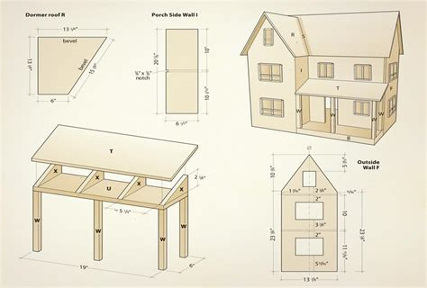 dolls house furniture plans plan doll house numberedtype