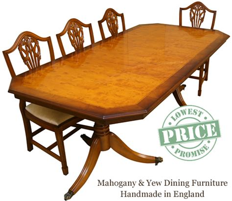 Yew Dining Table Reproduction Dining Tables In Yew And Mahogany Enfield Lowest Prices