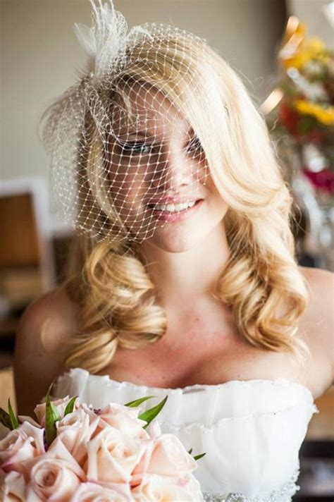 wearing my hair down for the wedding but ask emmaline wear a birdcage veil with hair down and replace with