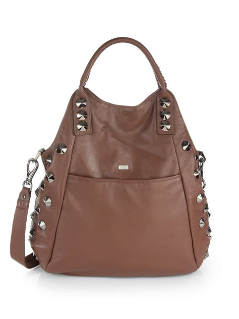 Be D Garbo Shoulder Bag by Be D New Garbo Leather Foldover Tote Bag In Brown Rich