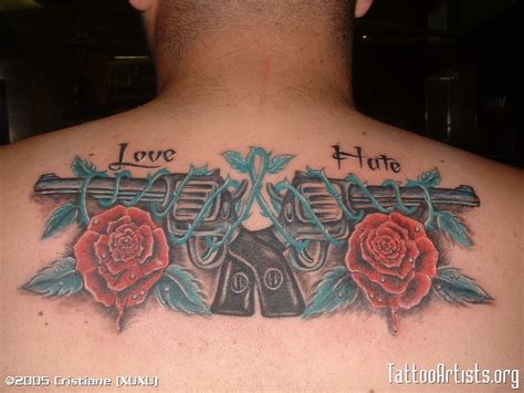 gun and rose tattoos guns and roses artists org