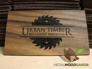 woodworking business cards urbantimber printed and metal wood business cards