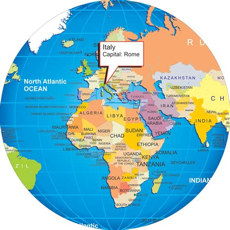 world map of italy where is italy on the world map