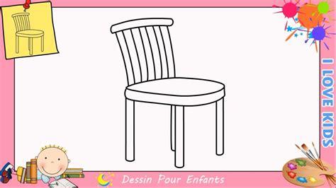 dessiner une chaise comment dessiner une chaise facilement etape par etape