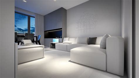 white and grey living room 3 light white and minimalist homes inspiring clarity of mind