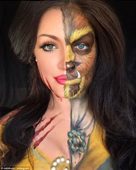 Makeup Makeover And The Beast transforms herself into disney characters with make