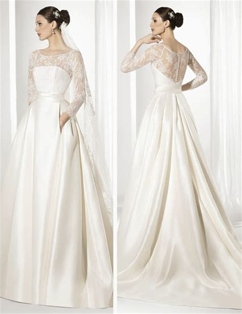 imagenes de vestidos de novia con una sola manga las bodas de raquel 10 vestidos de novia de manga larga 2015