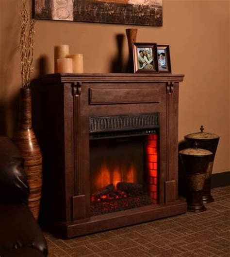 41 7 quot bond rustic wood electric fireplace
