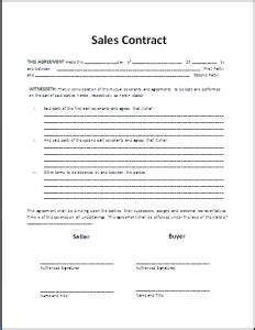Formal Sales Agreement Contract Template My Board Pinterest T M Contract Template