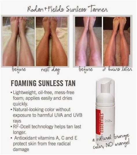 12 Best Self Tanners by Rodan And Fields Sunless Before And After Rodan