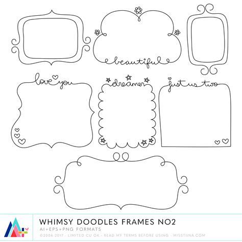cornici photoshop whimsy doodles frames no2 183 cu 183 187 miss tiina