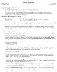 computer and mathematical resume sles