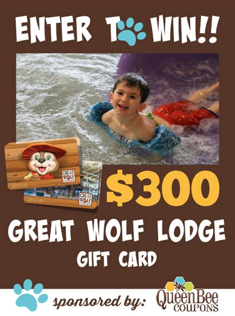 Great Wolf Lodge Gift Card - winner of the 300 great wolf lodge gift card and more