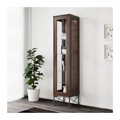 tockarp ikea hack tockarp high cabinet with glass door brown 38x175 cm ikea