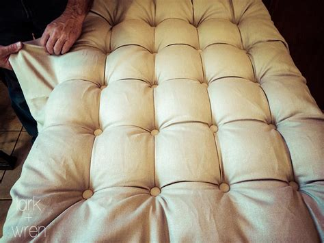 How To Do Tufting Upholstery by Diy Tufted Headboard Photo Tutorial