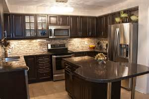 wood backsplash ideas for kitchen home design dark cabinets