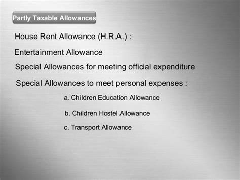 house rent allowance comes under which section tax planning for salaried emp 8 8 2012 final