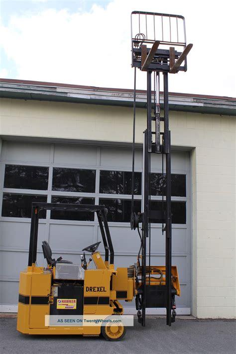 drexel swing mast drexel swing mast electric forklift 2200 lbs cap 36 volt