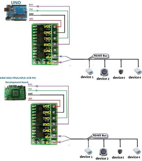 rs485 module wiring diagram rs485 module arduino